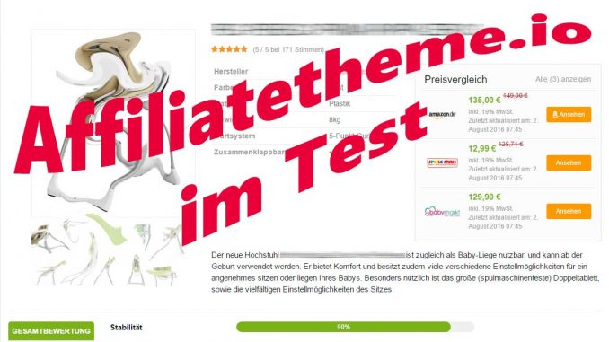Mein Reviwew - Affiliatethem.io im Test