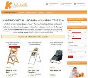 Webseite https://www.hochstuhl-testsieger.de/ - aufgesetzt mit dem Affiliatetheme.io