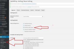 Wordpress Umziehen Schritt 1 - sichern der Dateien